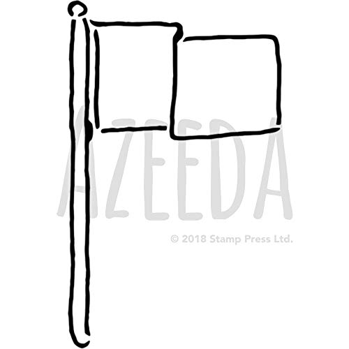 Azeeda A5 'Fahne' Wandschablone / Vorlage (WS00033632)