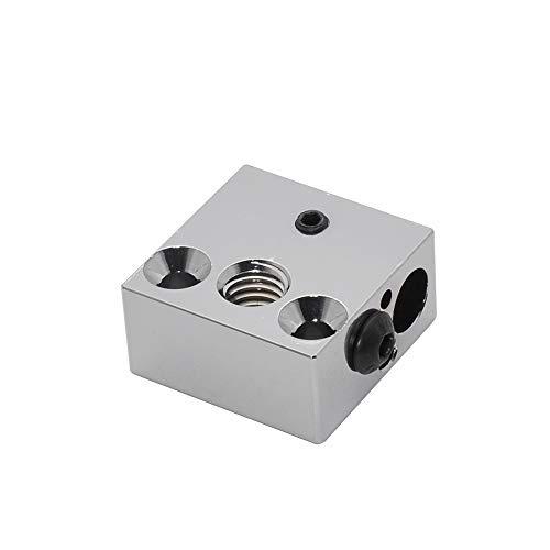 Bloque calefactor de cobre chapado en alta temperatura CR-10 para extrusor MK8 Creality All Metal Hotend Ender 3s V2 Ender 3 Pro Ender 5 Pro CR10 S4 S5 Impresora 3D (cobre)