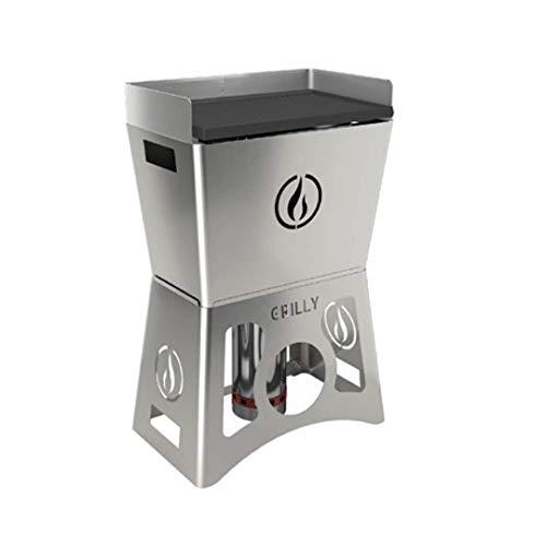 LineaVZ Grilly - Barbacoa portátil de pellets hecha de acero