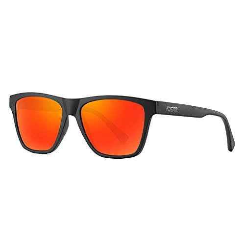 Gafas de sol polarizadas deportivas hombres y mujeres conducción gafas de viaje UV ultravioleta TR90 gafas deportivas-C4 caja negra película roja