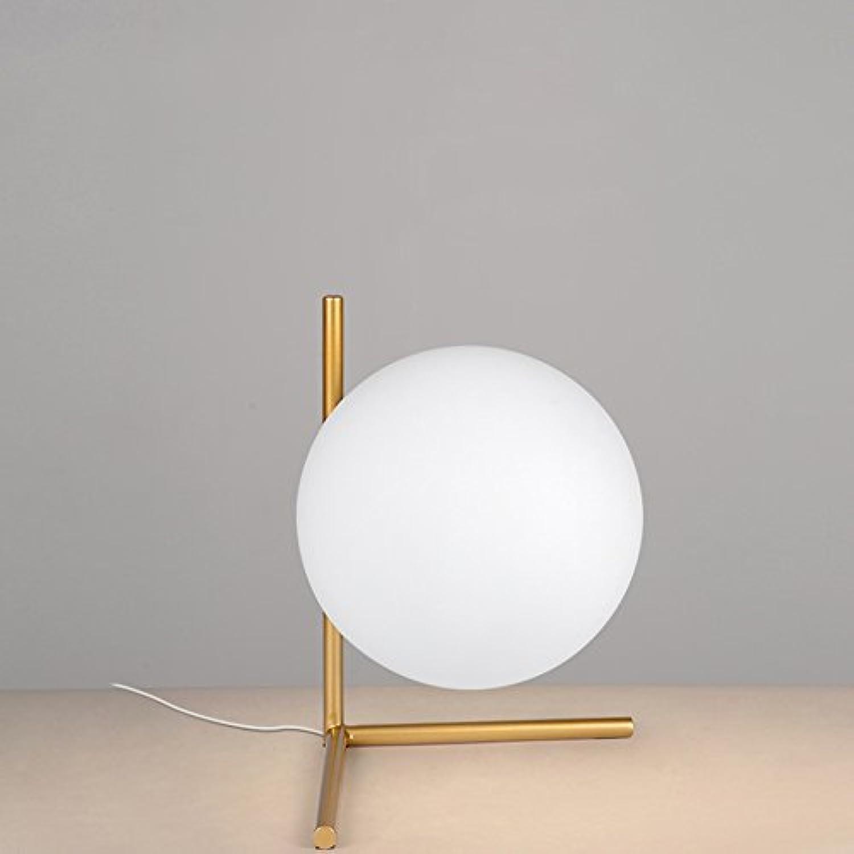 Vampsky Nordic Einfache Kreative Schreibtisch Laterne Postmodern Ball Glas Tischlampe Mode Persnlichkeit Schreibtisch Licht Schlafzimmer Dekoration Lernbett Desktop Beleuchtung für Dekor