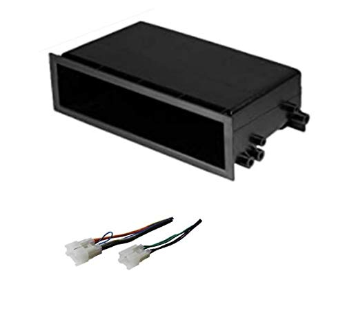 ASC Car Stereo Dash Install Pocket Kit and Wire Harness for Installing a Single Din Radio for some Toyota- see below