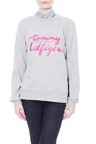 Tommy Hilfiger – Sudadera de mujer gris mezcla con bordado logo