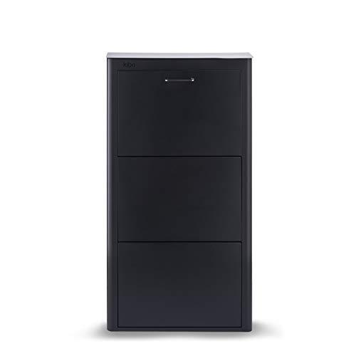 DON HIERRO - Mueble zapatero metálico KIBO, 3 Compartimentos, 3 colores