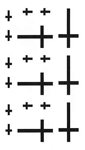 LIB'AIR TATTOO - Tatouage temporaire/éphémère - Croix (60 * 105mm)
