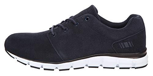 Boras Sports Sneaker Suede auch in Übergrößen 'Status' Navy/White 5210-0051, Herren:50 EU