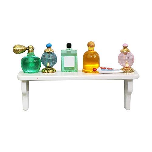ZHOUBAA Modelos De Casa De Muñecas En Miniatura DIY Kit De Casa De Muñecas De Decoración para Niños Estante De Perfume En Miniatura Simulado Modelo De Escena 1/12 Accesorio De Casa De Muñecas DIY UN