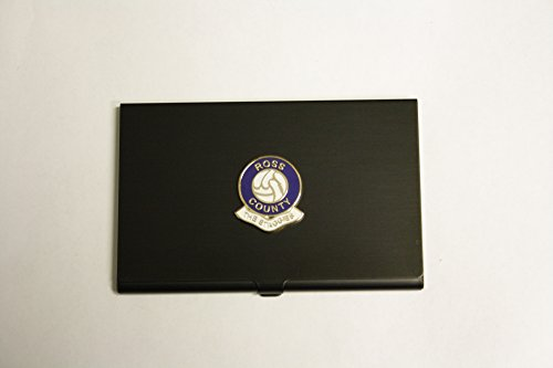 Awesome Gifts Football club black business card holder – Ross County