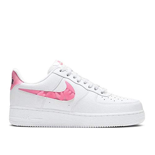 Nike Wmns Air Force 1 '07 SE, Zapatillas de bsquetbol Mujer, White Sunset Pulse Black Clear, 37.5 EU