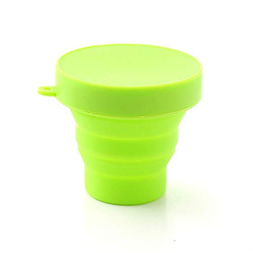 Lifegadget Silicone Folding Cup with Lid Adult Collapsible Drink Cup Child Portable Outdoor Travel Camping Telescopic Mug Drinkware 170ml