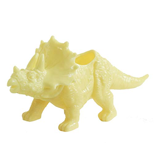 Plant Collective Yellow Dinosaur Planter - Dinosaur Planter Pot - Cute Dinosaur Succulent Planter - Holds Your Small Plants, Bonsai, Succulents & Air Plants (Yellow)