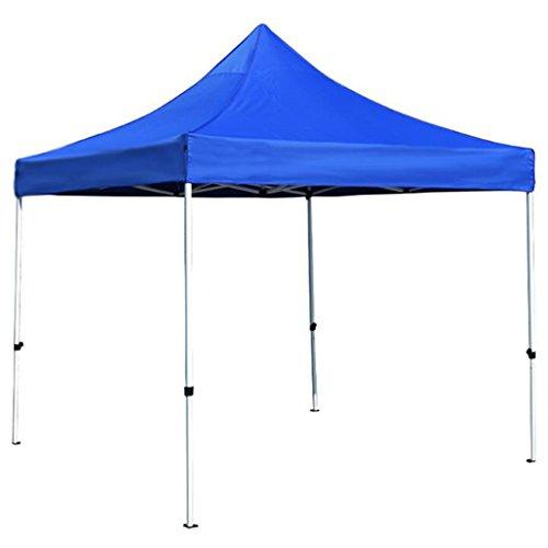 Toldos Exterior Carpa publicitaria Estampado Azul Plegable telescópico Caseta de estacionamiento Tienda de Cuatro Patas Paraguas Generoso Puesto de Venta Sombrillas, marquesinas