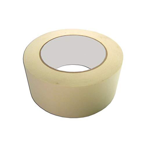 Kreppband 50 m x 48 mm   Papier Kleberband   Für einfache Abdeck- & Malerarbeiten   Universell einsetzbar   Rückstandsfrei ablösbar Abklebeband   Malerkrepp   Feinkreppband von Easy PAck