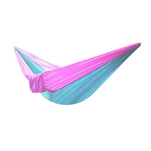 A-hyt Hamaca para Acampar al Aire Libre 230x90cm 210t Hamaca de Nylon Hamaca Columpio Swing paracaídas portátil para Crecido Fuera Hamaca (Color : #3)