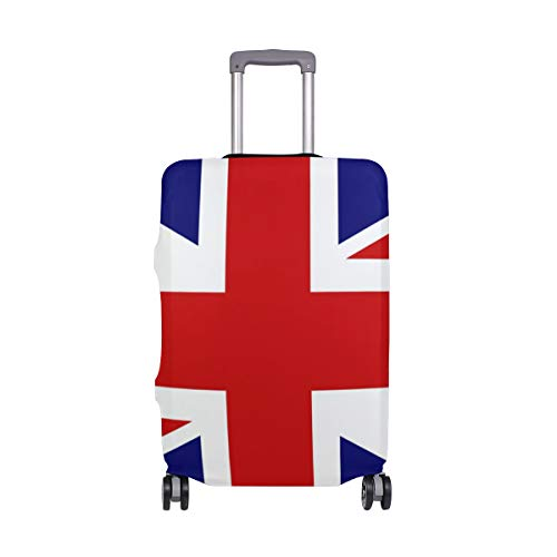 Baggage Travel (L Fits 26-28 Inch Luggage) Union Jack Suitcase Protector Washable Anti-Scratch Luggage Cover