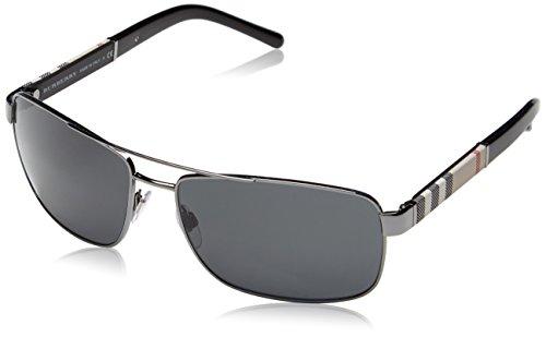 Burberry BE3081 Sunglasses 100387-63 - Gunmetal Frame, Gray BE3081-100387-63