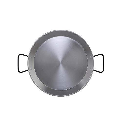 Metaltex - Padella per paella in acciaio lucido per induzione, 8 porzioni, 38 cm