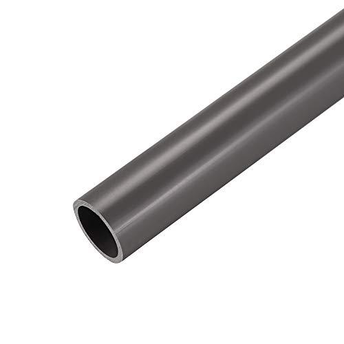 sourcing map Tubería redonda rígida de PVC, 21mm ID x 25mm OD, de 0,5 metros / 1,64 pies de longitud, gris
