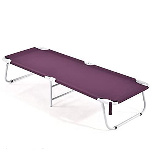 YYL Cama Plegable Tumbona de Jardín Reclinable Tumbona Silla Zero Gravity para Acampar en el Jardín Oficina Interior Dormir (Color : Purple, Size : Single Layer)