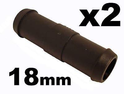 227s - Deux raccords de tuyaux - droit - tuyaux d'eau/carburant/reniflard - résistant à des températures entre -30 et + 140 °C - 18 mm