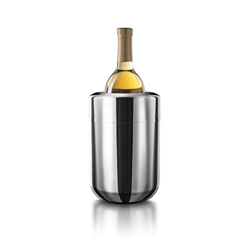 Final Touch Stainless Steel Wine Chiller with Removable Gel Freezer Packs Acier Inoxydable Refroidisseur vin avec Gel Amovibles Congélateur Packs Champagneor vin