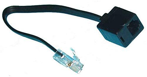 Kab24® Telefonkabel Modularkabel (0,2m, RJ12(6p6c) / RJ11 Buchse auf RJ45 Stecker)