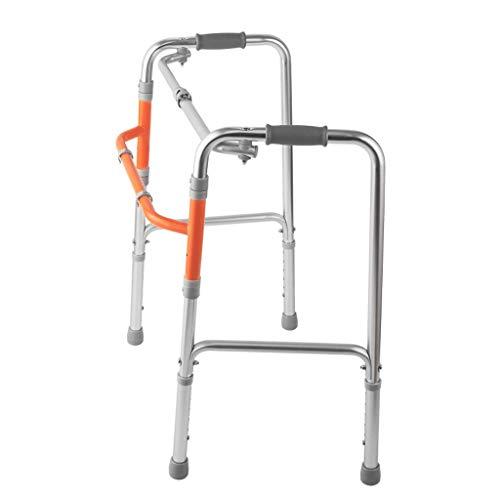 NOSSON Leichte Aluminium-Klappwandler Für Ältere Menschen, Extra Breite, Verstellbare Gehhilfen, Mobilitätshilfe Für Medizinische Gehhilfen Für Erwachsene