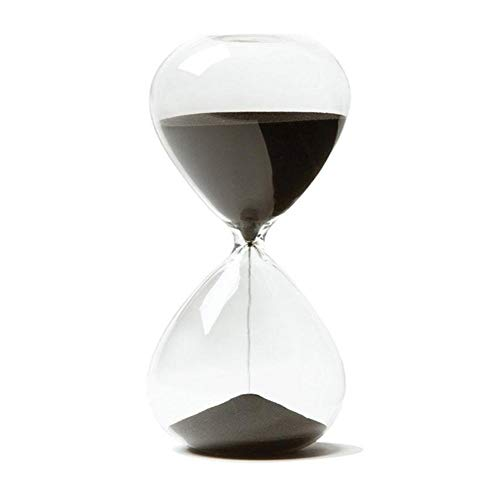 FUNRE Kreative Sand Clock Sanduhr Timer Geschenke Als Empfindliche Hauptdekorationen (Color : Black, Time : 5min)