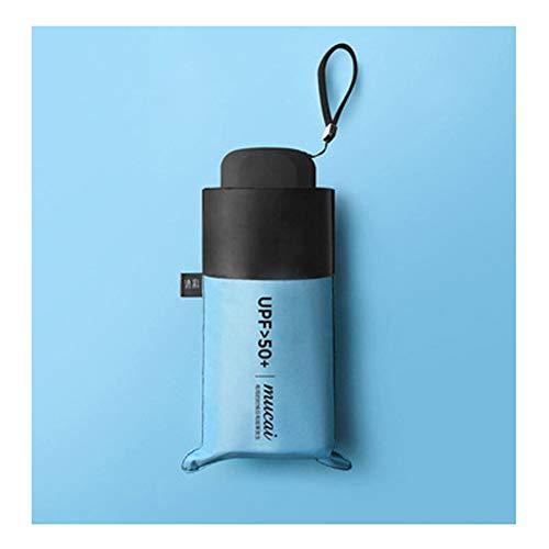 HDJX Sonnenschirm, Sonnenschutz, UV-Schutz, Ultraleicht, kompakt, tragbar, Mini-Shadow-Kapsel, Regenschirm, Damen Regen und Regen 3 Größe
