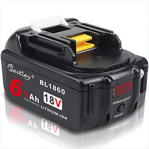 Waitley マキタ BL1860 18V 互換 バッテリー 6.0Ah 6000mAh BL1830 BL1840 BL1850 BL1890 対応 リチウムイオンバッテリMakita互換電池 電動工具電池 残量指示付き