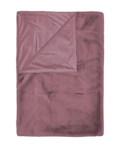 ESSENZA Plaid Furry Uni Kunstfell Violett, 150x200 cm