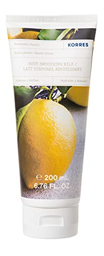 KORRES Basil Lemon Glättende Körpermilch mit Aloe Vera, vegan, dermatologisch getestet, 200 ml
