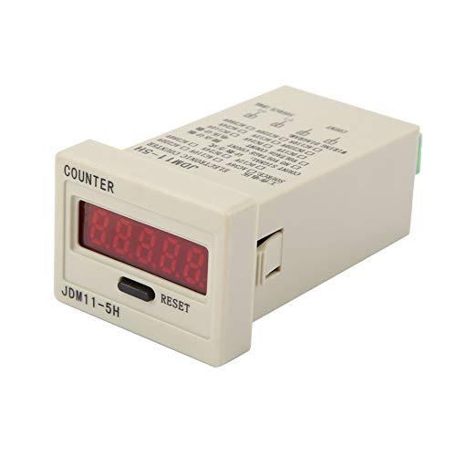 Contador electrónico electrónico digital de 5 dígitos JDM11-5H?5 dígitos de visualización de contador electrónico de acumulación AC220V / DC36V / DC 24V / DC 12V (DC12V)