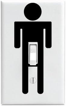 PP4U Stickman Viagra Lightswitch Decal - Funny - Die Cut Decal Bumper Sticker for Motorcycles, Windows, Cars, Trucks, Laptops, Etc.