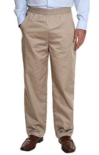 Pembrook Men's Full Elastic Waist Twill Casual Pant - 3XL - Tan