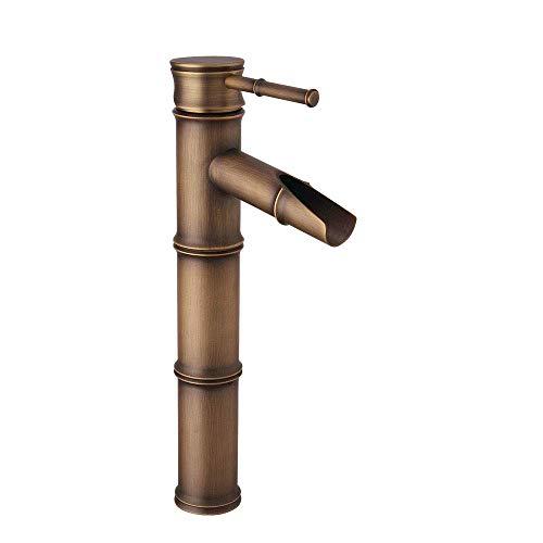Antike Bronze voll Kupfer Bambus Deck montiert Küche Bad Hotel Waschbecken Wasserhahn
