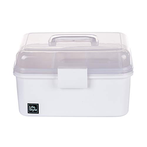 Teakpeak Hausapotheke Box, Medizinbox Hausapotheke tragbar Erste Hilfe Box Hausapotheke Aufbewahrung Medizinschrank