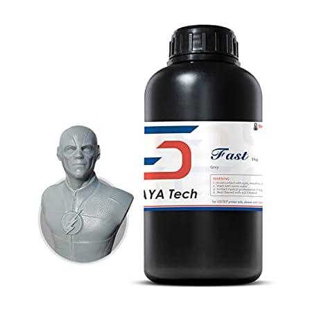 Siraya Tech製 Fastレジン (1kg) ABS-Like高速硬化高強度3Dプリントレジン (グレー)