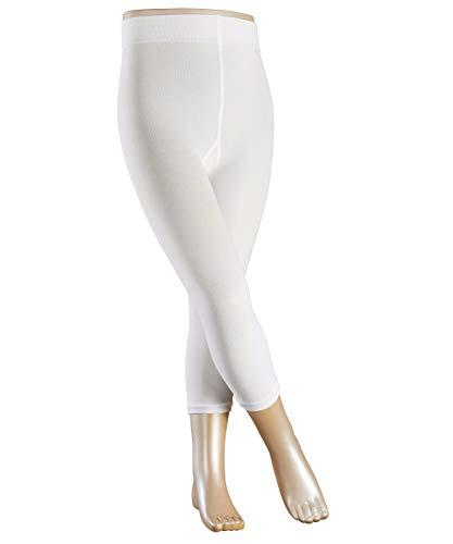 FALKE Kinder Leggings Cotton Touch - Baumwollmischung, 1 Stück, Weiß (White 2000), Größe: 122-128