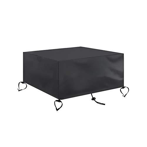 Protector de cubierta de mesa Cubierta impermeable para fogatas para patio Protector UV negro Parrilla Refugio para barbacoa Patio de jardín al aire libre Cubiertas para muebles(Size:213*132*72cm)