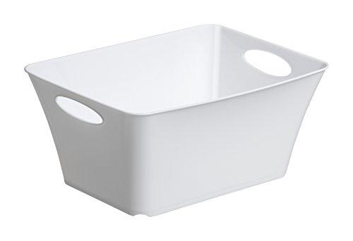 Rotho Living Aufbewahrungsbox 5l, Kunststoff (PP) BPA-frei, weiss, 5l (29,5 x 21,6 x 13,5 cm)