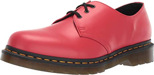 Dr. Martens Unisex 1461 Satchel Red Smooth Leather Colour Pop Shoes UK 9