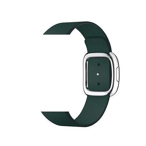 RVTYR Correa de hebilla moderna asequible para reloj 5 3 bandas 4 mm/40 m 42 mm/38 mm Correa de cuero pulsera accesorios iwatch Series 5 4 3 2 correas de repuesto