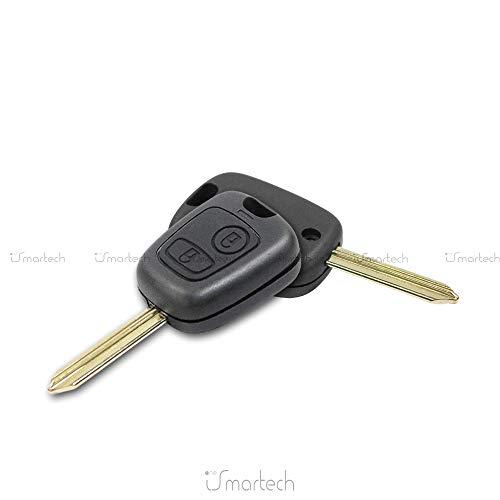 Carcasa para llave con mando a distancia de Citroën Saxo, Xsara, Picasso o Berlingo, incluye hoja