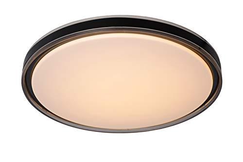 Lucide Silas - Lámpara de techo (diámetro de 48,5 cm, LED, 36 W, 2700 K, 3 StepDim), color negro