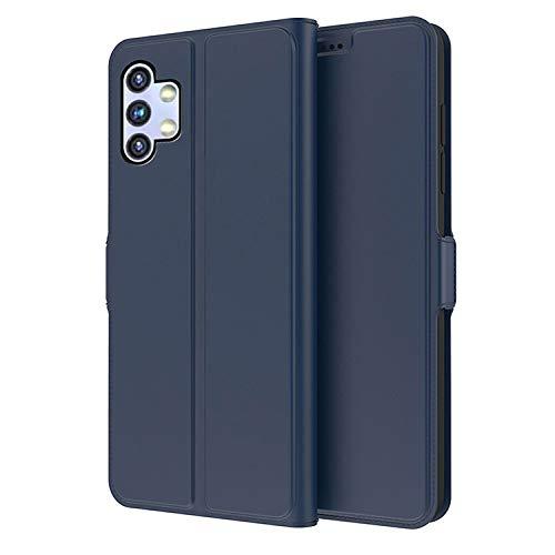 Galaxy A32 5G SCG08 ケース/カバー 手帳型 レザー スタンド機能 カード収納 サムスン ギャラクシーA32 5G 上質なPUレザーケース レザーケース おしゃれ アンドロイド スマフォ スマホ スマートフォンケース/カバー(ダークブルー