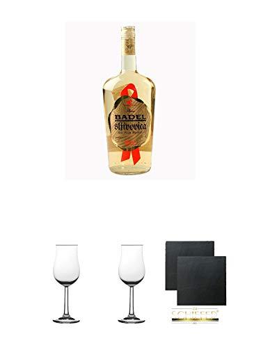 Badel Slivovitz Pflaumenbrand Kroatien 1,0 Liter + Geschenkset