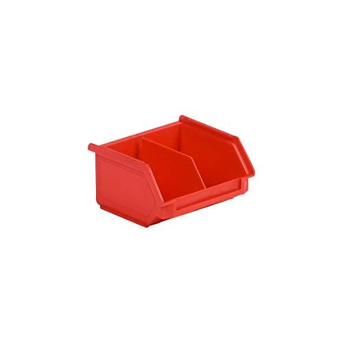 SSI Schäfer Kunststoffbox Sortierbox Stapelbox LF 110M, Aufbewahrung, Made in Germany, Polypropylen (PP), L 92 x B 100 x H 50 mm, 0,26 l, Rot