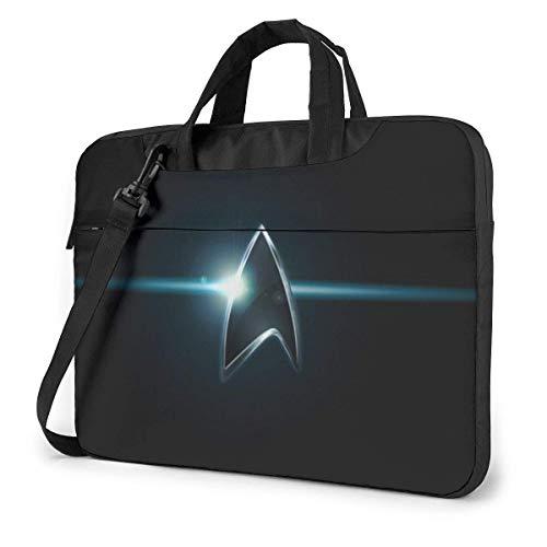 Star Trek Laptop Bag 14 15 15.6 Pulgadas Maletín Bandolera de Hombro Bolsa para computadora portátil Repelente al Agua Satchel Tablet Business Carrying Handbag para Mujeres y hombres15.6 Pulgadas