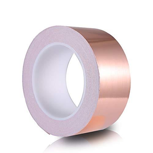 O³ Kupferband 50mm x 20m // selbstklebender Schneckenschutz // EMI Abschirmung // Copper tape gegen Schnecken